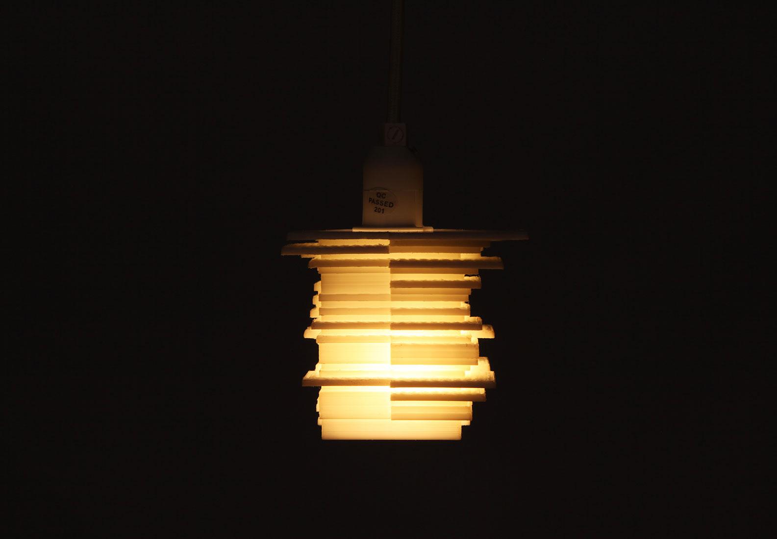 Lampe von vorne (dunkel).