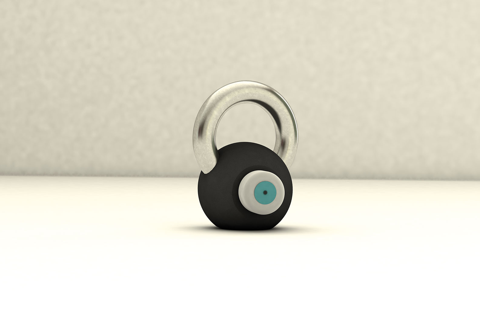 Initiales Rendering des Wearables an einer Kettle Bell